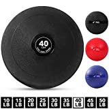Weighted Slam Ball by Day 1 Fitness – 40 lbs - No Bounce Medicine Ball - Gym Equipment Accessories...