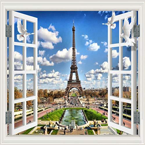 Muurschildering Niet-geweven Eiffeltoren Fotobehang - Modern Decoratief voor Kids Slaapkamer Keuken Woonkamer Badkamer 350x245cm