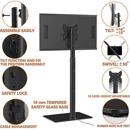 Meuble TV Pied Support Pivotant pour Téleviseur Ecran LCD de 19 à 42 Pouce LED Plasma
