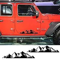 DLDBB 2個車のドアサイドステッカービニールフィルムスタイリングオートマウンテンDIYデカールスポーツ自動車車のチューニングアクセサリー、トラック用
