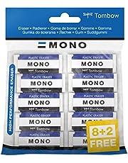 Tombow PE -01A–de 10P goma de borrar Mono XS, PVC, ftalatos ni látex, 11g