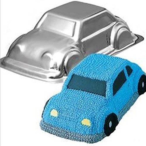 SunniMix Aluminiumlegierung Buch Form Kuchen Backform Zinnform Tablett Backformen Werkzeug - Silber Auto, 27x14x7.5cm