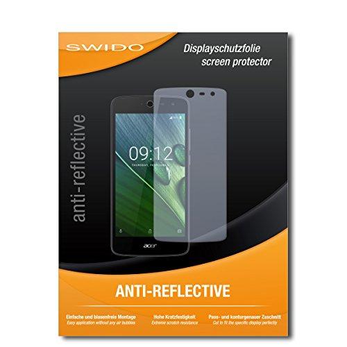 SWIDO Schutzfolie für Acer Liquid Zest 4G [2 Stück] Anti-Reflex MATT Entspiegelnd, Hoher Festigkeitgrad, Schutz vor Kratzer/Bildschirmschutz, Bildschirmschutzfolie, Panzerglas-Folie