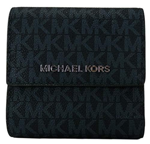Michael Kors Borsa Portafoglio Carte Portafoglio Carryall Bifold PVC Piccolo Blu Admiral small