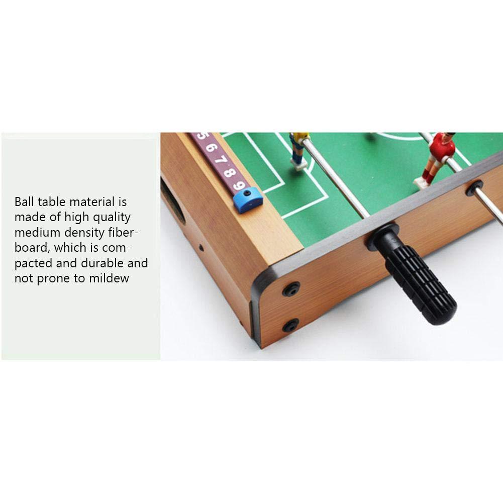Mini mesa de futbolín de madera para interiores, juegos de fútbol ...