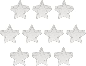 Prettyia 10 Pack Star Shaped Plastic Clear Tealight Cups Candle Wax Containers Empty Candle Mold for Wedding Party Decorat...