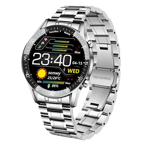 BEN NEVIS Smartwatch Reloj Inteligente Hombre Reloj Deportivo con Temporizador/Mensaje/Suspensión/IP68 a Prueba de Agua/Conexión Móvil Android/iOS