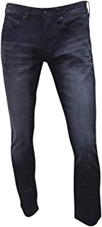 Buffalo by David Bitton Men's Max-X Crinkled & Sanded Indigo Skinny Stretch Jeans