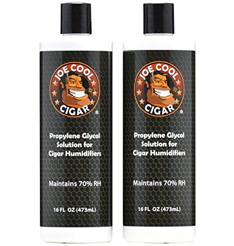 Joe Cool Cigar Propylene Glycol Solution for Cigar Humidifiers (16 oz Bottles) - 2 PACK