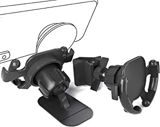 WERONE Air Vent and Dashboard Car Phone Mount, Easy Clip and Stick Phone Holder,360-Degree Rotating Adjustable (2 Mode)