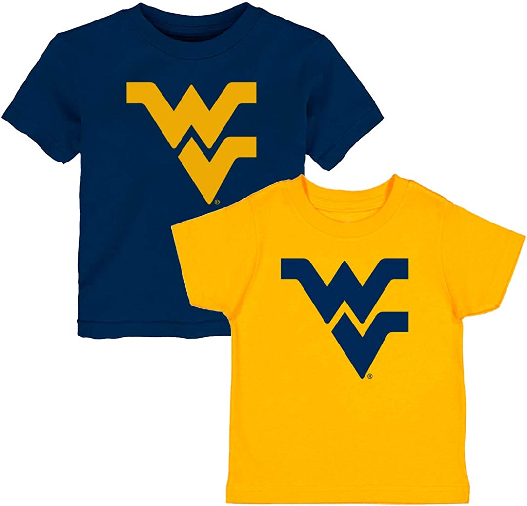 Future Tailgater West Virginia Mountaineers Logo Home and Away Baby/Toddler Tshirt Combo Set