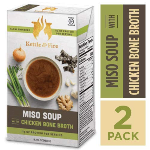Miso Soup with Chicken Bone Broth by Kettle and Fire | Amazon