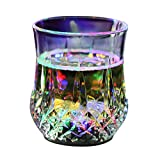 YARNOW Flash Light Up Cups, Automatic Water Activated LED Plastic Shot Glasses Blinking Beer Wine Whisky Vodka Martini Drinkware Glow Glasses Mugs for Bar Club Party Supplies- 1 Pc (7 Colors)