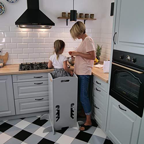 KiddyMoon Tour D'Apprentissage/D'Observation Montessori ST-001 Kitchen Helper, Contreplaqué/naturelle