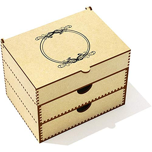 Azeeda 'Cadre Circulaire' Boîte de Maquillage (VC00001609)