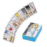 Cartas del tarot, 78 barajas clásicas de cartas del tarot, cartas de adivinación del tarot del jinete ruso, naipes de interacción del juego de cartas del futuro para fiestas, viajes(Jinete ruso)