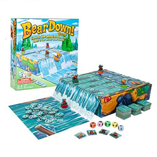 Bear Down! Sliding Tile Board Game for Family & Kids Ages 6+