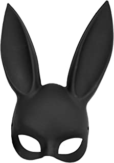 Adult Deluxe Sexy Bunny Half Mask Black