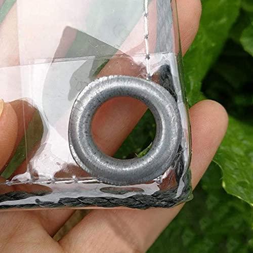 Lona Impermeable, Resistente, Impermeable, de PVC, Lona Transparente con Ojales, para Cubierta de sábana para Acampar (0.3 mm / 400 g / m2) (Color: 0.3 mm, Tamaño: 1.2x4m / 3.9x13ft)