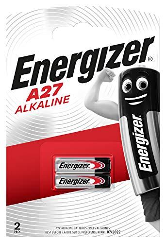 Energizer A27 Piles Alcalines, 12V, Lot de 2