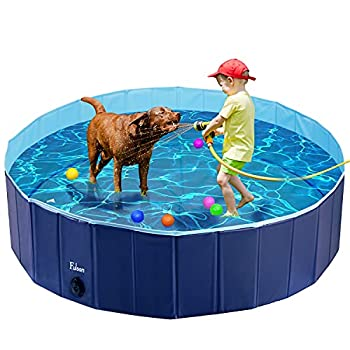 Fuloon PVC Pet Swimming Pool Portable Foldable Pool Dogs Cats Bathing Tub Bathtub Wash Tub Water Pond Pool Pet Pool & Kiddie Pools for Kids in The Garden  80x20cm 32inch.D x 8inch.H  Blue