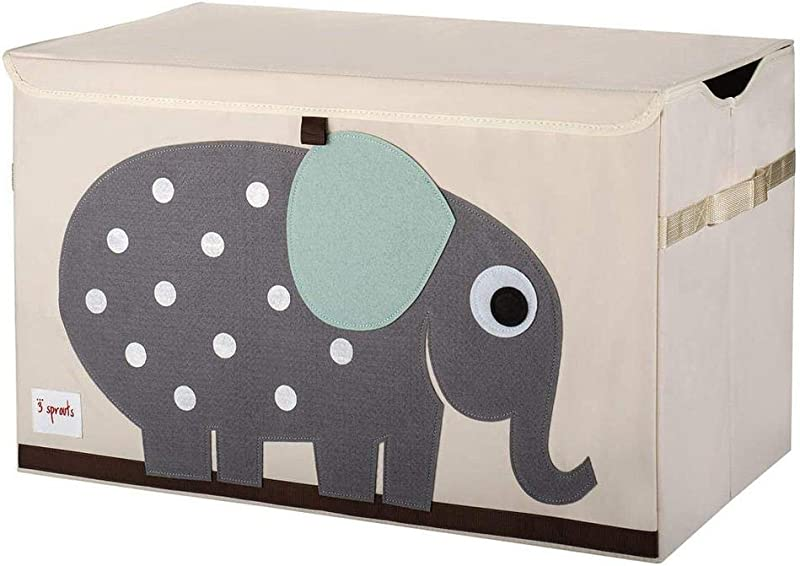 3 Sprouts Kids Toy Chest Storage Trunk For Boys And Girls Room