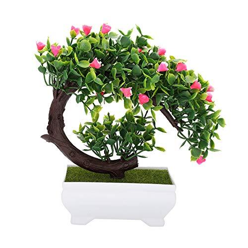 Felenny Planta en Maceta Artificial Bonsai Artificial Flor Falsa Planta en Maceta Decoración Jardín de La Oficina en Casa