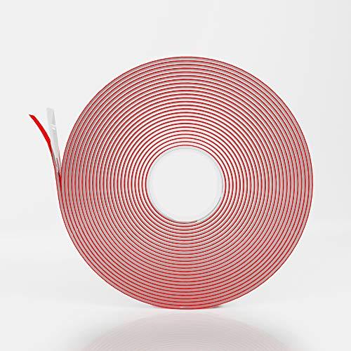 bijon® Silikon-Dichtlippe Schmutzlippe mit Schutzfolie für Kaminplatte/Glasbodenplatte/Ofenplatte/Bodenplatte/Kaminofenplatte - Kaminofen Dichtung Selbstklebend - glasklar - Länge 5,5m