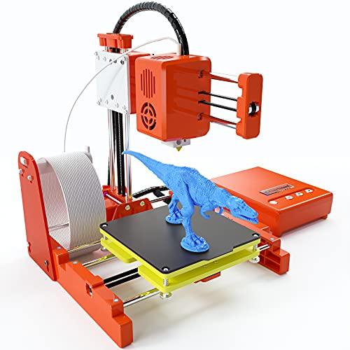 Stampante 3D, WZTO Mini 3D Printer con Filamento PLA 10m 1,75 mm, Piastra Magnetica Rimovibile,Riscaldamento Rapido,Stampa Online/Offline,Stampante 3D per Principianti Bambini Formazione Scolastica