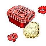 6 in 1 Sandwich Cutter e sigillante, Sandwich Maker, Sandwich Cutter Pane, Scatola per Il Pranzo e Bento Box per Ragazzi e Ragazze,Rosso