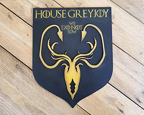 Greyjoy House, sigil of Game of Thrones. We Do Not Sow. Iron Islands. Pyke. Kraken. Theon, Euron and Jara