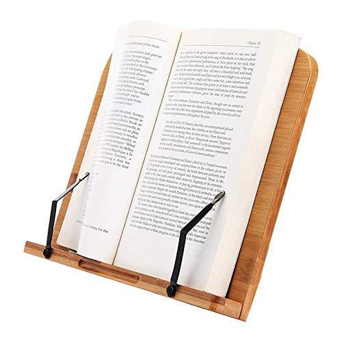 竹製 ブックスタンド 筆記台 書見台 本立て 6段階調整 バンブー 本 読書 リーディング ブック ホルダー 卓上 ハンズフリー BANBST