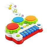 NextX Tastiera Musicale per Bambini – Pianoforte e Tamburo con Adorabili Suoni – Strumenti Musicali Giocattolo - Gioco Educativo Prima Infanzia – Ottimo Regalo di Natale per Bimbi 6+ Mesi