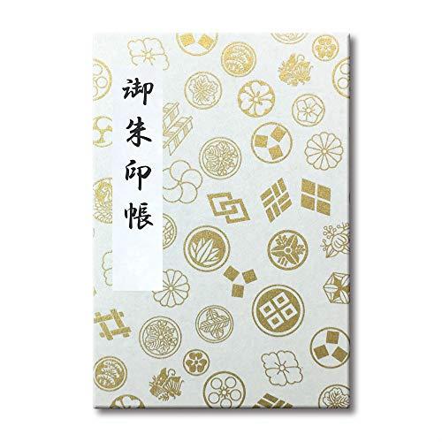 ピジョン ポケット御朱印帳 友禅和紙 家紋(白)