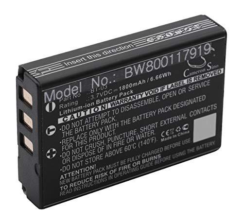 vhbw Li-Ion batteria 1800mAh (3.7V) per telecamera videocamera camcorder Zoom Q8