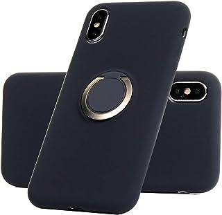 b44bba69e84 Funda para iPhone X/iPhone XS, Carcasa de Silicona Líquida de Color Caramelo  con