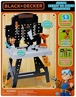 Black and Decker Junior Ready-to-Build Work Bench with 53 Tool and Accessories