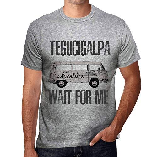 One in the City Hombre Camiseta Vintage T-Shirt Gráfico Tegucigalpa Wait For Me Gris Moteado