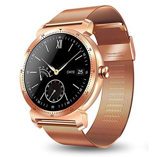 ZZJ Elegante de la Pantalla del Color del Reloj de Bluetooth Hombres Mujeres Ritmo cardíaco Detección del sueño Relojes Deportivos al Aire Libre Deportes Reloj de Pulsera,B