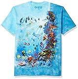 Liquid Blue Men's Tropical Reef T-Shirt, Tie Dye, Medium