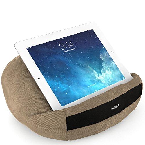 padRelax Casual Camel iPad Kissen bis 10.5 Zoll, Made in Germany, für Bett, Sofa, Tisch und kompatibel mit Apple iPad, kompatibel mit Samsung Galaxy Tab