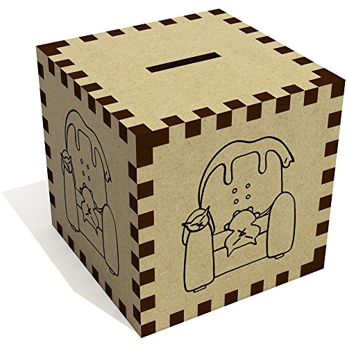 Azeeda 'Katzen auf Sessel' Sparbüchse / Spardose (MB00000406)