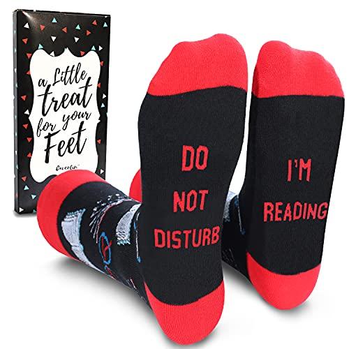 Cavertin Women's Novelty Socks with Gift Box Book Lov
