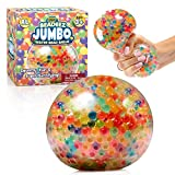 YoYa Toys Beadeez Squishy Stress Balls with Gel Water Beads - Jumbo Size (Colorful) - Anti-Stress ADHD Anxiety Relief Sensory Toy for Kids and Adults - Promote Calm Focus, Reduce Hand, Wrist Pain