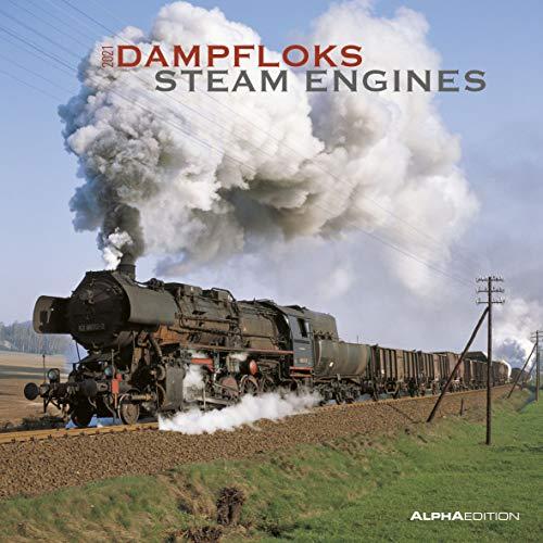Dampfloks 2021 - Broschürenkalender 30x30 cm (30x60 geöffnet) - Steam Engines - Bild-Kalender - Wandplaner - mit Platz für Notizen - Alpha Edition