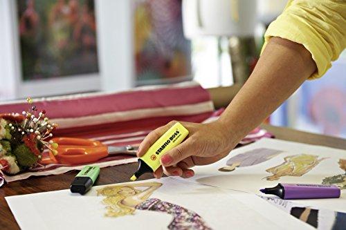 Marcador fluorescente STABILO BOSS Original – Caja con 10 unidades – Color rojo