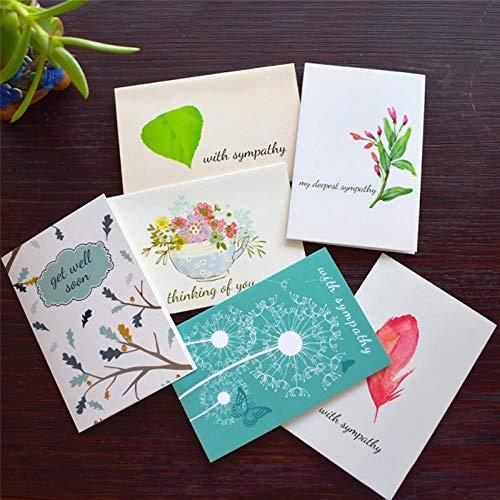 Yener bedankkaarten met envelopstickers Zakelijk Custom uitnodigingen Notities Blanco binnen wenskaarten Ansichtkaarten Geschenkenkaart, 6 kaarten 6 enveloppen
