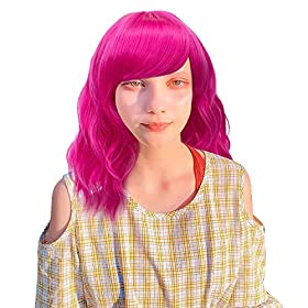 Probeauty Sweety Collection Lolita 40CM Short Curly Women Lolita Anime Cosplay Wig + Wig Cap (Rose Pink)…