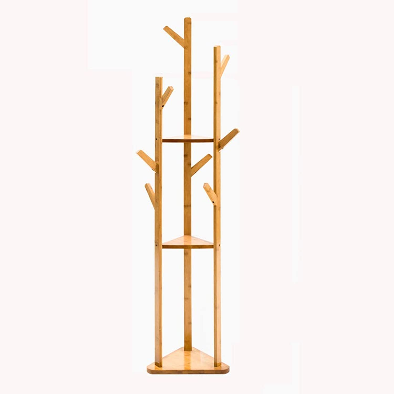 Lsxlsd Simple Coat Rack Simple Modern Solid Wood Bedroom Hanger Clothes Storage Floor Home Rack