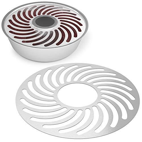 nobellgo Edelstahl Gitterrost kompatibel mit Omnia®-Backofen Backblech, Grillrost, Backblech, Grillgitter, Backgitter